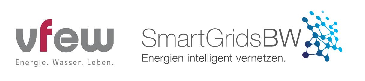 Kombilogo VFEW und Smart Grids-Plattform Baden-Württemberg